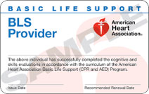 BLS provider for certified training