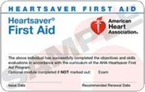 Heartsaver First Aid training in southeast Michigan